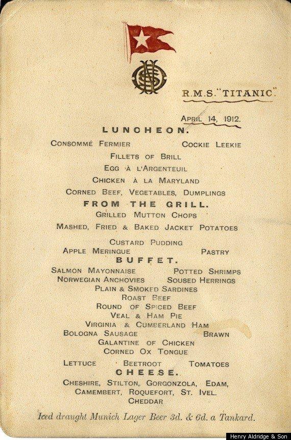 Titanic Food